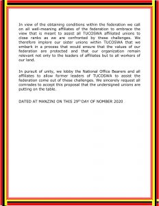 VARIOUS TUCOSWA AFFILIATES STATEMENT 29-11-2020 12-7
